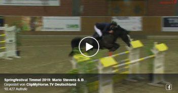 Springfestival Timmel 2019: Mario Stevens & Botakara Großer Preis S** mit Stechen